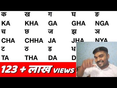 Hindi Ka Kha Ga Gha Writing In English // Explained In Hindi