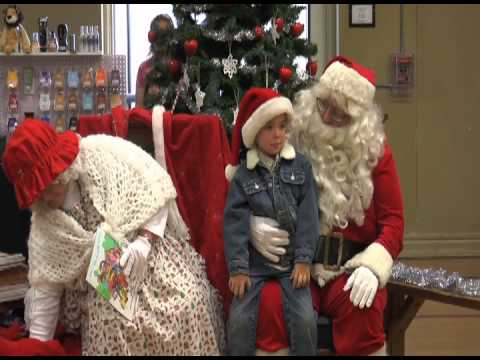 Santa and Mrs. Claus visit Wellington, Ohio on 12-1-12