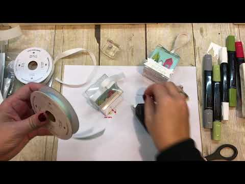 How to create a Tiny Treat Box Ornament and Gift Tag