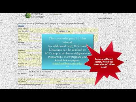 ACM database Tutorial