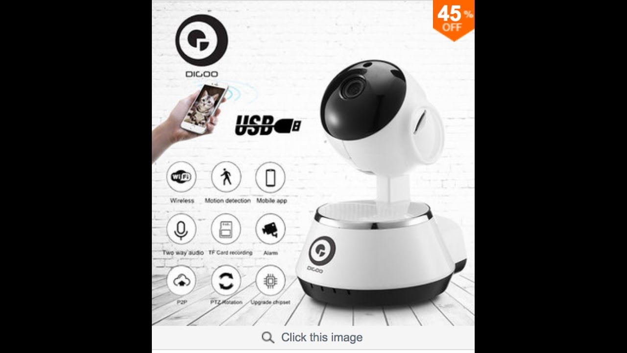 Digoo BB-M1 Wireless WiFi USB Baby Monitor Alarm Home Security IP Camera HD  720P Audio Onvif