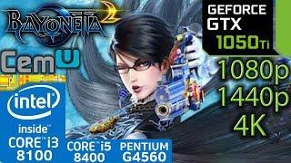 Bayonetta 2 CEMU - GTX 1050 ti - i3 8100 - i5 8400 - G4560 - 1080p - 1440p - 4K - Emulator Video