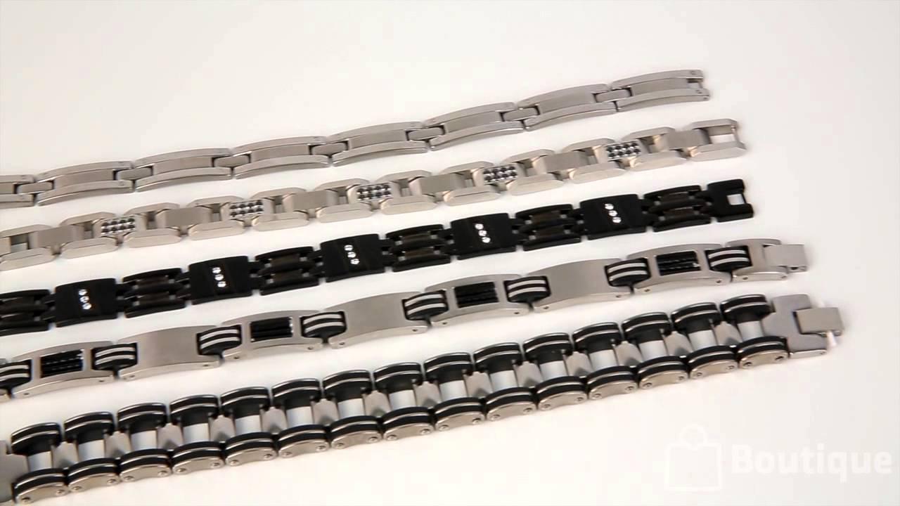 boutique tuango bracelets pour homme en acier inoxydable youtube. Black Bedroom Furniture Sets. Home Design Ideas