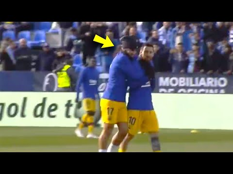 What happened between Antoine Griezmann and Lionel Messi during the warm-up? | MrMatador