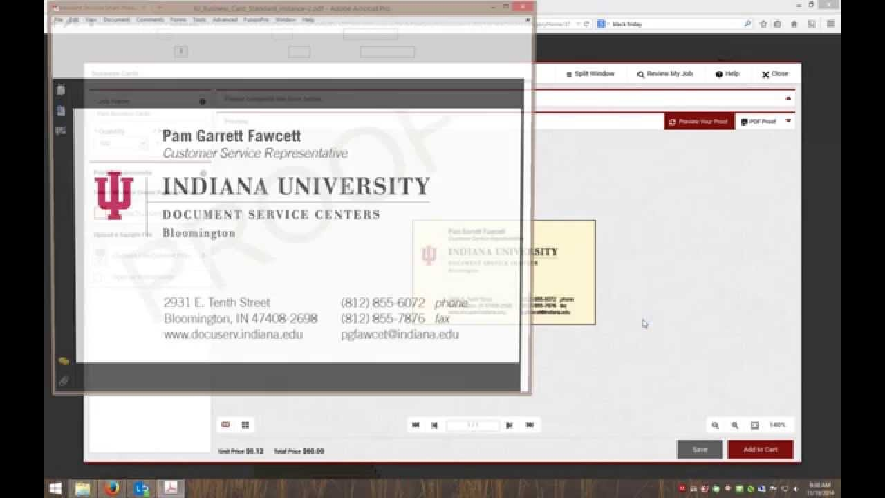 IU Business Card Ordering Process - YouTube