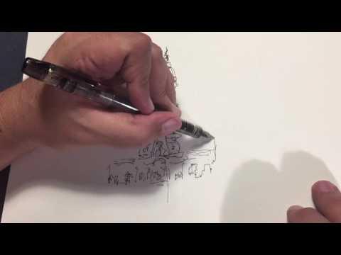 Loose Ink & Watercolor Sketching: Fast Demo