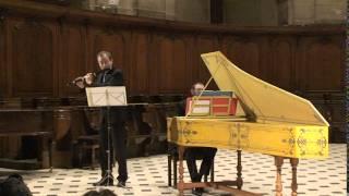 Sonate pour flûte et clavecin BWV 1020