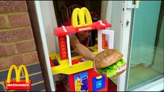 Kids Pretend Play with Kitchen Toy Playset at McDonald's