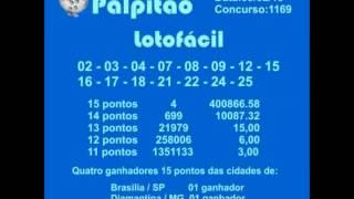LOTOFACIL CONCURSO 1169  09022015