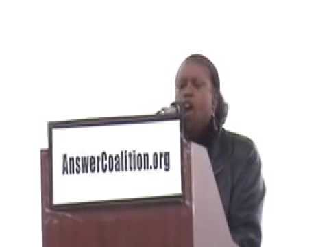Cynthia McKinney at the -March on the Pentagon Rally