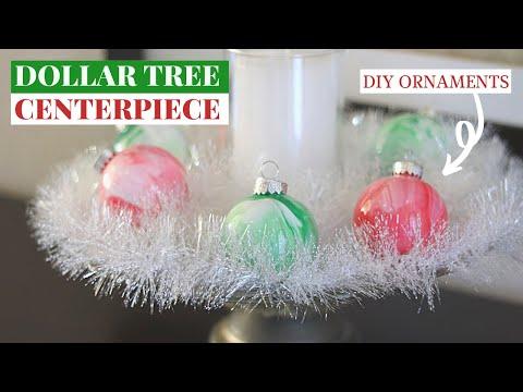 DIY DOLLAR TREE CHRISTMAS ORNAMENTS | $5 CHRISTMAS CENTERPIECE