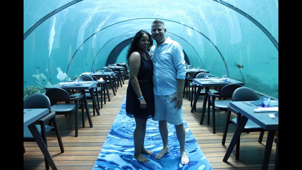 5.8 undersea restaurant Maldives (Hurawalhi) - YouTube