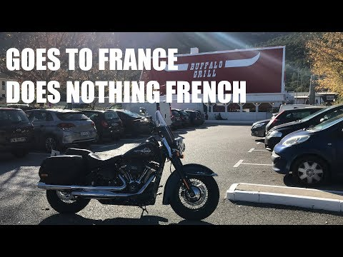 STUPID AUSTRALIAN IN FRANCE ON A HARLEY! Part 2!