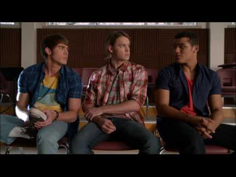 Glee - Blaine Talks To Ryder, Sam and Jake About Tina 5x01