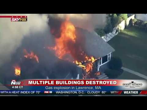 50 HOMES DESTROYED: MAJOR Gas Explosion In Lawrence Massachusetts