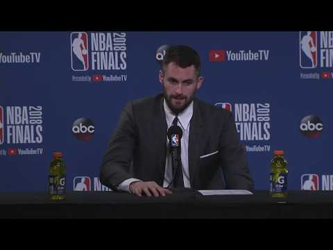 Kevin Love |  NBA Finals Game 2 Postgame Interview