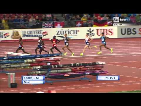 Campionati Europei di Zurigo - Finale 10000 Uomini - Daniele Meucci e Stefano La Rosa