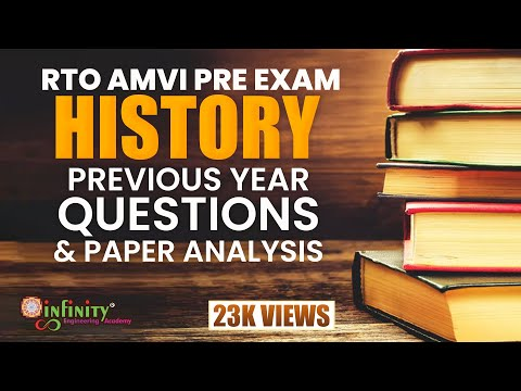 RTO AMVI 2018  HISTORY PREVIOUS YEAR QUESTIONS ANALYSIS BY Prof. Sagar Sonawane - INFINITY ACADEMY