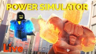 PLAYING POWER SIMULATOR ON OUR VIP!! FAMILY FRIENDLY! ROBLOX LIVE STREAM!!