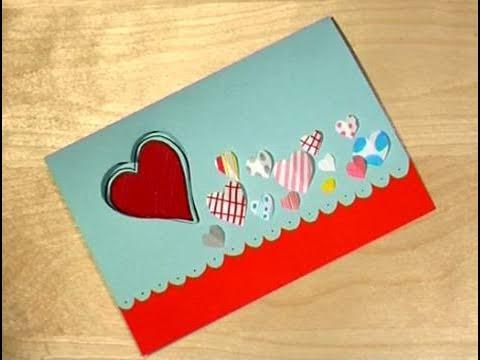C mo dise ar una tarjeta de san valent n youtube - Como realizar tarjetas navidenas ...
