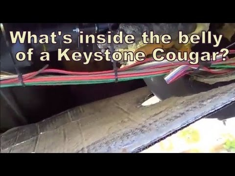 Inside the Belly Pan of Keystone Cougar FifthWheel Trailer