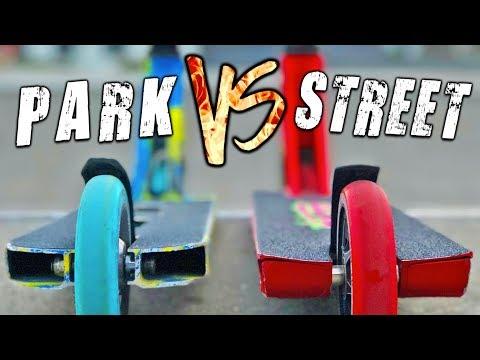 *PARK vs STREET* BEST CUSTOM PRO SCOOTERS
