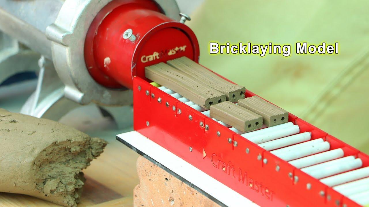DIY-How to make mini Bricks, Mini Construction, Mini bricks machine