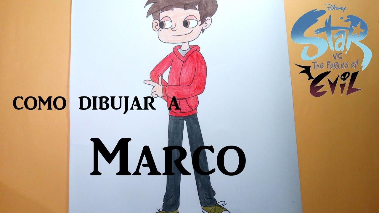 Como Dibujar/pintar A Marco Díaz De Star Vs Las Fuerzas