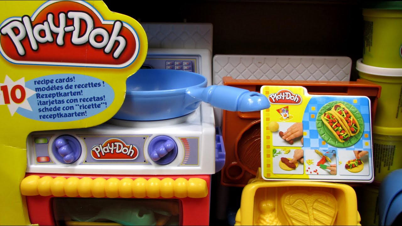 Play Doh Küche Youtube Meal Makin Kitchen Play Doh Hasbro 22465