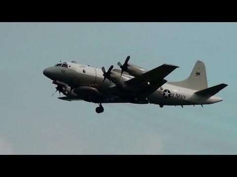 US Navy 156511 EP-3 Go Around Portland Airport (PDX)