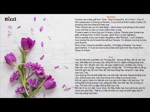 [BIZZI ENGLISH] LUYỆN NGHE THEO CHỦ ĐỀ – HOA (FLOWERS)