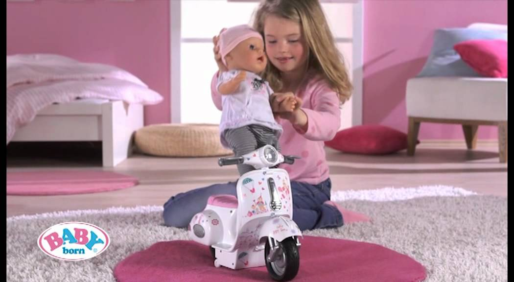 Baby Born 174 Interactive Scooter Youtube