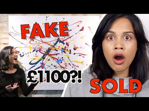 I FAKED AN ART GALLERY IN LONDON AND SOLD MY PAINTINGS *it worked!!* | clickfortaz