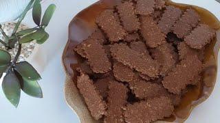 بيسكويت أو صابلي صحي ومناسب للريجيم بالكاكاو والفول السوداني مقرمش ولذيذ