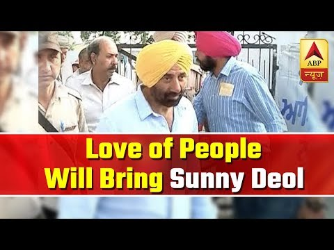 """""""Love of people will lead me to win"""", says Sunny Deol 