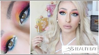 Full face of Beauty bay makeup| Bright & Colourful Makeup Tutorial | DramaticMAC