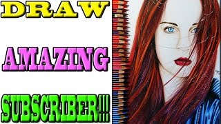 Draw Sandra Photography - Realistic Drawing (Color) #0062 [HD] [Speed drawing] [Subscriber]