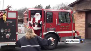 Twin Lakes Fire Department Santa arrival 2016