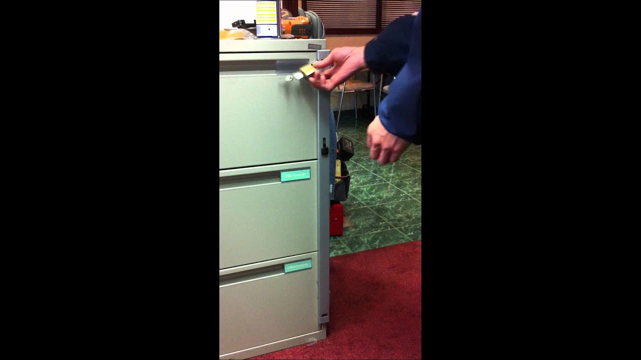 diy file cabinet lock bar 1