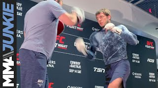 Nikita Krylov works out at UFC Vancouver media event