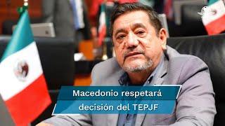 El Instituto Nacional Electoral ratificó, el martes 13 de abril, su decisión de retirar la candidatura a Salgado Macedonio, por no haber presentado informe de ingresos y gasto de precampaña
