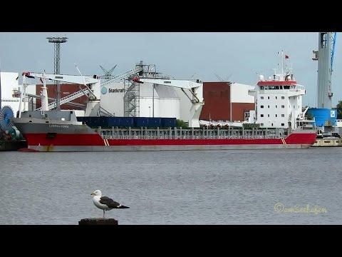 cargo crane seaship IJSSELBORG PBTT IMO 9456745 Emden Kranschiff Seeschiff