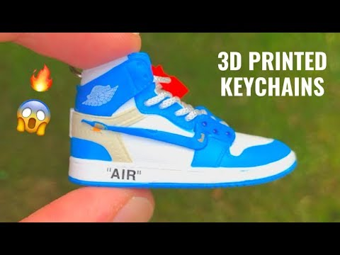 f8b1aaa1896742 Sneaker Keychain 3D Printed Air Jordan 1 Off-White (CRAZY DETAILS). Accessoires  Eternity