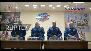 LIVE  Expedition 51 52 ISS crew holds pre flight press conference