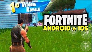 Primeira VITÓRIA FORTNITE Android e iOS