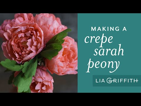 Creating Crepe Paper Sarah Peonies