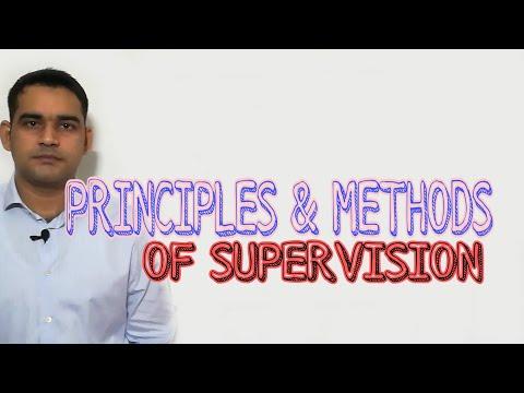 Supervision :Methods & principles /Simple Explanation
