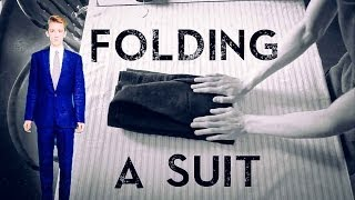 How To Correctly Fold a Suit | For Travelling |