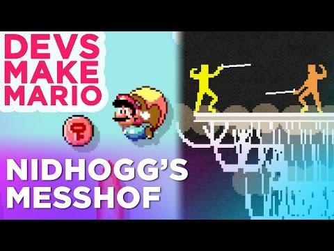 NIDHOGG's Creator Builds a Super Mario Maker Level —Devs Make Mario