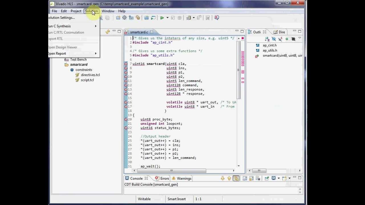Xilinx HLS #1: Smartcard Reader (Vivado High Level Synthesis)